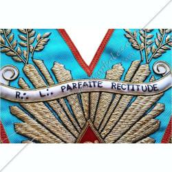 banderole personnalisée, nom de loge, sautoir de vénérable, cadeaux, décors maçonniques, REAA