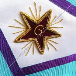 symboles maçonniques, memphis, équerre, étoile, G, broderies, décors FM, bijoux