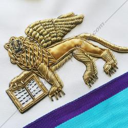 Lion de Venise doré, brodé au fil d'or, symboles rote memphis misraim, cadeaux, décors maonniques