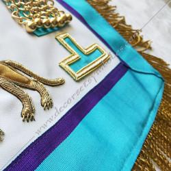 Rite de Venise, brodé au fil d'or, symboles du rite memphis misraim, broderies, décors maçonniques