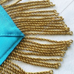 galon doré, décors maçonniques loges bleues, turquoise. Décors de vénérable maître, cadeaux FM