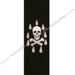 Dos noir, cordon maçonnique RMM, tête de mort, décors et signes de la franc maçonnerie, bijoux de loges, Memphis