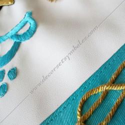 Décors, maçonniques, tablier, rite français, simili cuir, lac amour, franc maçonnerie, cadeaux, loges bleues