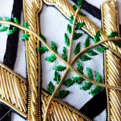 décors maçonniques, acacia, équerre, compas, broderies, doré, symboles, franc maçonnerie, FM, pavé mosaïque
