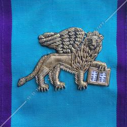 Lion de venise, rite memphis misraim, loges bleues, turquoise violet, c