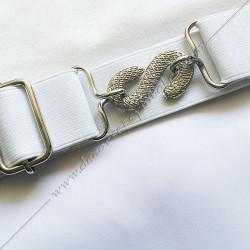 TRE075C-tablier-maçonnique-compagnon-rite-regime-ecossais-rectifié-decors-franc-maconnerie-fm-bleu-cocardes-symboles-gants