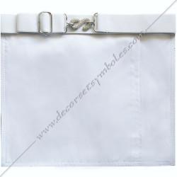 TRE075C-tablier-maçonnique-compagnon-rite-regime-ecossais-rectifié-decors-franc-maconnerie-bleu-fm-cocardes-symboles-gants