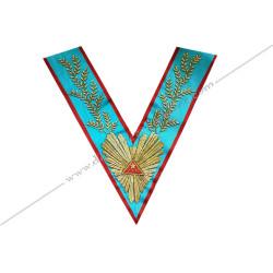 VRA 051-1R - Sautoir de Vénérable Maitre REAA. Rite Ecossais Ancien Accepte, broderies or, decors franc-maconnerie, bijoux, fm