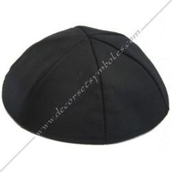 CHA012- Kippa, coiffe de franc maçonnerie, noire, décors maçonniques, accessoires FM