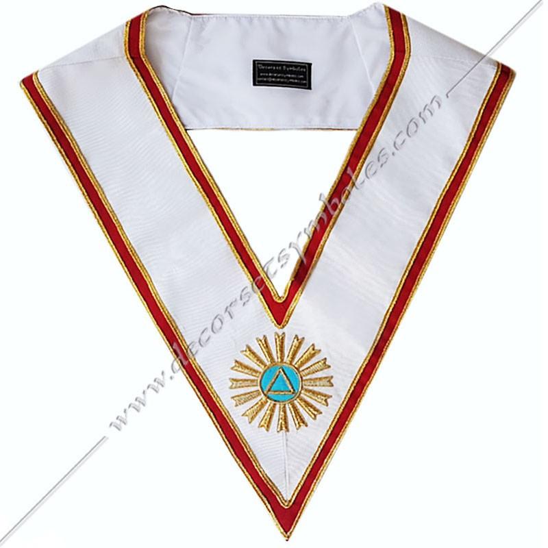 Cordon maçonnique du 20ème degré du GOE (Grand Ordre Egyptien) - Philosophe Hermétique