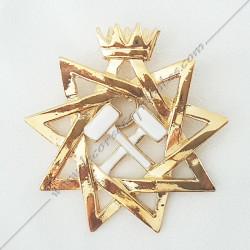 FGK 245-bijou-maconnique-5eme-ordre-rite-francais--ateliers-superieurs-sagesse-hauts-grades-decors--maconniques-rose-croix-fm