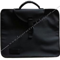 ACC050- Sacoche maçonnique, 5 soufflets pour tabliers, poches et rangements ergonomiques. Poignets, et bandoulière