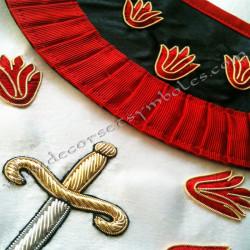 HRF 260-tablier-maconniques-premier-1er-ordre-rite-francais-chapitres-ateliers-superieurs-grades-sagesse-decors-hauts-fm-grades