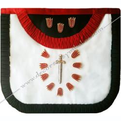 HRF 260-tablier-maconniques-premier-1er-ordre-rite-francais-chapitres-ateliers-superieurs-grades-sagesse-decors-hauts-grades-fm