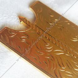 Bijou de loge maçonnique, officier 1er surveillant, doré or fin  24, décors, symboles maçonniques, doré, sautoir, cadeaux
