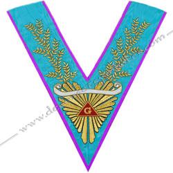 VRM072-1P - Sautoir de Vénérable Maitre de Memphis Misraim. Grande gloire, acacia, banderole personnalisée