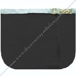 Tablier de maître, RFT, dos noir, poche, gants, décors maçonniques, franc maçonnerie, fermoir serpent or