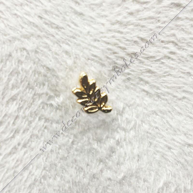 PIN001-1- Mini pin's acacia doré à l'or fin. Décors, symboles et signes maçonniques. Accessoires, bijoux de franc maçonnerie