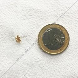 Mini pin's acacia doré à l'or fin. Décors, symboles et signes maçonniques. Accessoires, bijoux de franc maçonnerie, FM