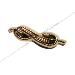 PIN004- pin's lac d'amour doré à l'or fin. Décors, symboles et signes maçonniques. Accessoires, bijoux de franc maçonnerie