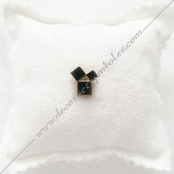 PIN006- Pin's Pythagore doré à l'or fin. Décors, symboles et signes maçonniques. Accessoires, bijoux de franc maçonnerie