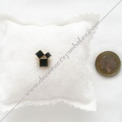 Pin's Pythagore doré à l'or fin. Décors, symboles et signes maçonniques. Accessoires, bijoux de franc maçonnerie, FM