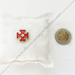 in's Rose Croix rouge doré à l'or fin . Décors, symboles et signes maçonniques. Accessoires, bijoux de franc maçonnerie, FM