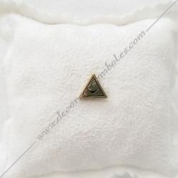 IN008- pin's triangle doré à l'or fin. Décors, symboles et signes maçonniques. Accessoires, bijoux de franc maçonnerie