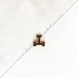 IN008- pin's arche royale doré à l'or fin. Décors, symboles et signes maçonniques. Accessoires, bijoux de franc maçonnerie