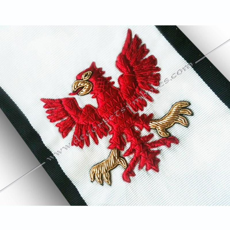 HRM054-1-cordon-maconnique-12eme-degre-chevalier-aigle-rouge-goe-egyptien-decors-franc-maconnerie-loges-fm