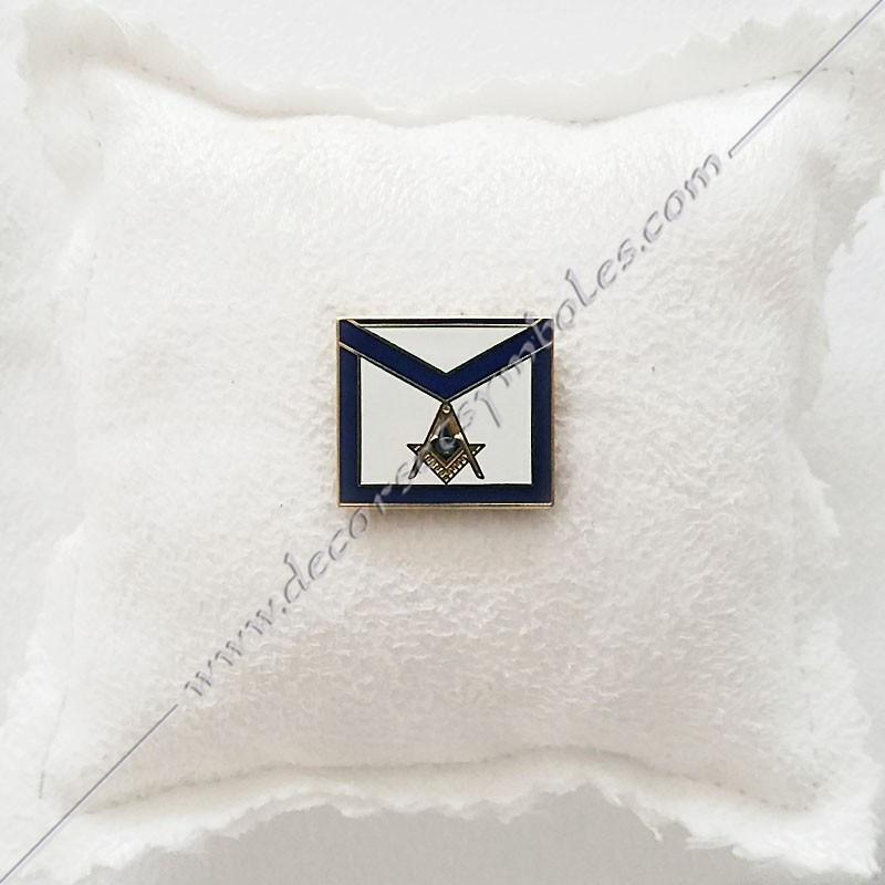 PIN016- pin's tablier maçonnique. Décors, symboles et signes maçonniques. Bijoux de franc maçonnerie