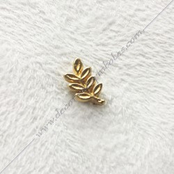 PINPO1- pin's acacia maçonnique. Décors, symboles en plaqué or 24 carats maçonniques. Bijoux de franc maçonnerie