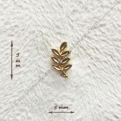 pin's acacia maçonnique. Décors, symboles en plaqué or 24 carats maçonniques. Bijoux de franc maçonnerie