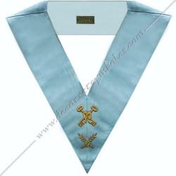 SRFM 001 - Trésorier, sautoir d'officier du rite français moderne, acacia, décors maçonniques, bijoux, franc maçonnerie