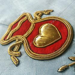 Aumonier, sautoir d'officier du rite français moderne, acacia, décors maçonniques, bijoux, franc maçonnerie