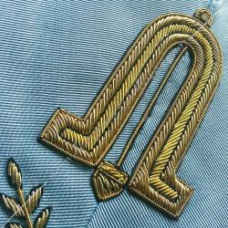 2nd surveillant, sautoir d'officier du rite français moderne, acacia, décors maçonniques, bijoux, franc maçonnerie, RFM