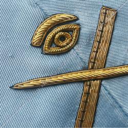 GSRFM006-sautoir-maconnique-officier-grand-expert-rite-français-moderne-acacia-decors-franc-maconnerie-bijoux loge-fm-outils