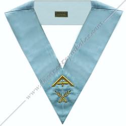 RFM 007 - 21er surveillant, sautoir d'officier du rite français moderne, acacia, décors maçonniques, bijoux, franc maçonnerie