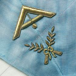 1er surveillant, sautoir d'officier du rite français moderne, acacia, décors maçonniques, bijoux, franc maçonnerie