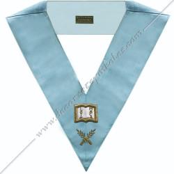 SRFM 009 - Orateur, sautoir d'officier du rite français moderne, acacia, décors maçonniques, bijoux, franc maçonnerie