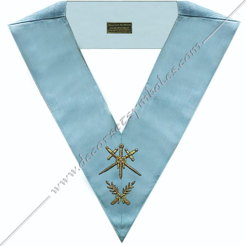 SRFM 009 - Maître des cérémonies, sautoir d'officier du RFM acacia, décors maçonniques, bijoux, franc maçonnerie