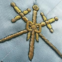 Maître des cérémonies, sautoir d'officier du RFM acacia, décors maçonniques, bijoux, franc maçonnerie