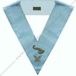 SRFM167 - Maître des banquets, sautoir d'officier du RFM acacia, décors maçonniques, bijoux, franc maçonnerie