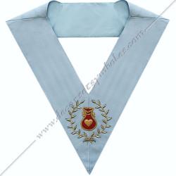 SRFM013- Aumonier, sautoir d'officier du rite français moderne, acacia, décors maçonniques, bijoux, franc maçonnerie