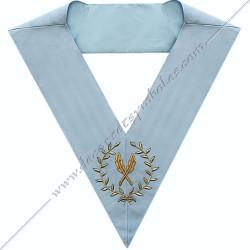 SRFM 014 - Secrétaire, sautoir d'officier du rite français moderne, acacia, décors maçonniques, bijoux, franc maçonnerie