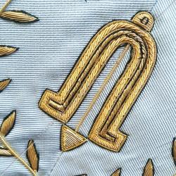 2nd surveillant, sautoir d'officier du rite français moderne, acacia, décors maçonniques, bijoux, franc maçonnerie