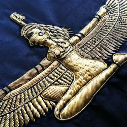 HRM540-Tablier-maconnique-icto-illustre-chevalier-toison-Or-goe-memphis-decors-franc-maconnerie-fm-egyptien