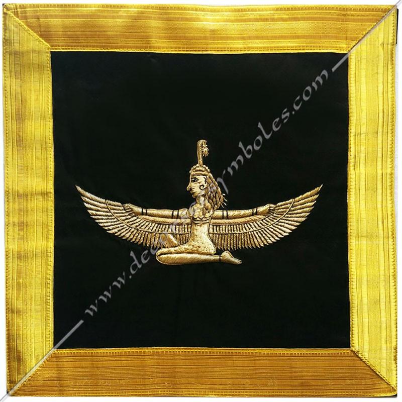 HRM540-Tablier-maconnique-icto-illustre-chevalier-toison-Or-goe-memphis-decors-franc-maconnerie-egyptien-fm