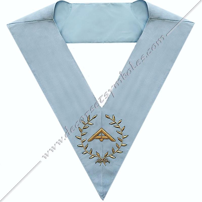 RFM 017 - 1er surveillant, sautoir d'officier du rite français moderne, acacia, décors maçonniques, bijoux, franc maçonnerie