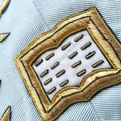 Orateur, sautoir d'officier du rite français moderne, acacia, loi mac, décors maçonniques, bijoux, franc maçonnerie